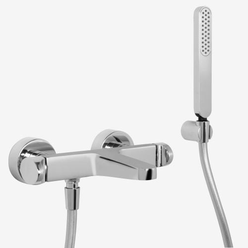 Смеситель для ванны наружного монтажа с душевым комплектом Fima Next F3934