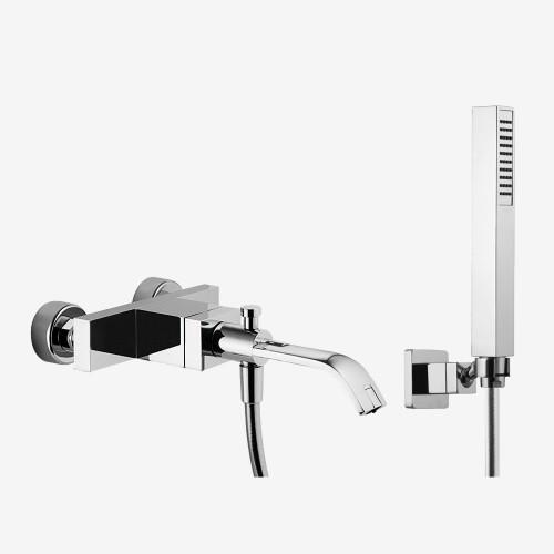 Смеситель для ванны наружного монтажа с душевым комплектом Fima Bio F3464