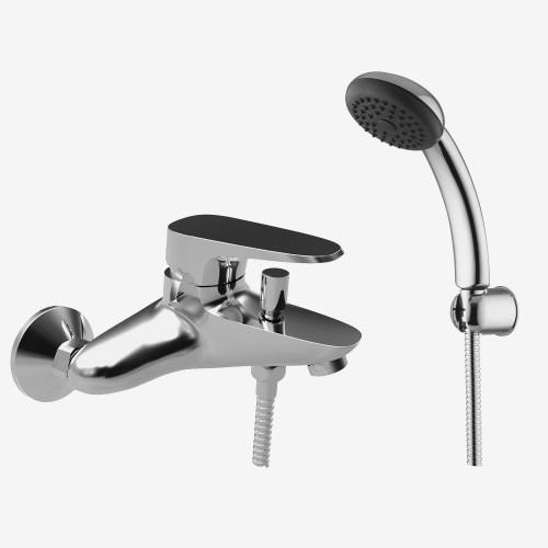 Смеситель для ванны наружного монтажа с душевым комплектом Fima Split F3704