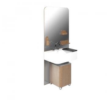 Комплект мебели для ванной комнаты Olympia Beauty в медовом цвете