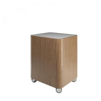 Тумба-табурет на колесиках Olympia Beauty в медовом цвете