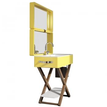 Комплект мебели для ванной комнаты Olympia My Bag в желтом цвете