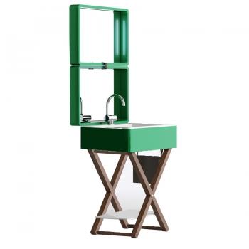 Комплект мебели для ванной комнаты Olympia My Bag в зелёном цвете
