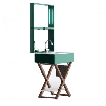 Комплект мебели для ванной комнаты Olympia My Bag в бирюзовом цвете