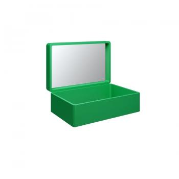 Чемодан для раковины Olympia My Bag с зеркалом в зелёном цвете