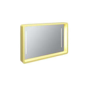 Зеркало настенное Olympia My Bag со встроенной LED подсветкой в желтом цвете