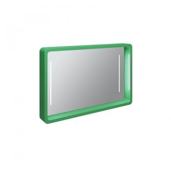 Зеркало настенное Olympia My Bag со встроенной LED подсветкой в зелёном цвете