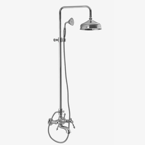 Смеситель для ванны внешнего монтажа с душевой стойкой, верхним душем и душевым комплектом Fima Epoque F1152008