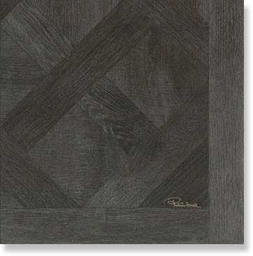 Декор Roberto Cavalli Rinascimento VERSAILLES EBANO FIRMA LAPP.RETT. 0557966 50x50