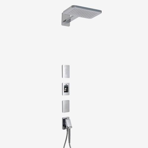 Смеситель для душа встраиваемый с ручным душем и верхним душем Fima General F804662