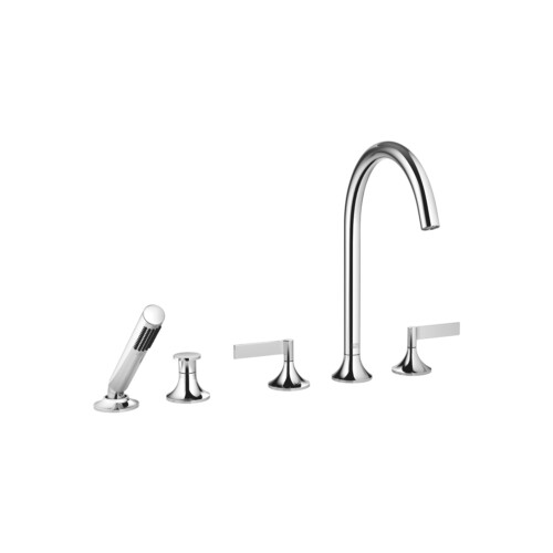 Смеситель для ванны с душем на пять отверстий для установки на борт Dornbracht VAIA | 27 522 819-00