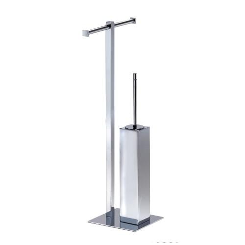 Ёршик для унитаза с держателем для туалетной бумаги Pomd'or Metric  | 381901