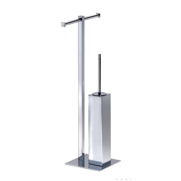 Ёршик для унитаза с держателем для туалетной бумаги Pomd'or Metric    381901