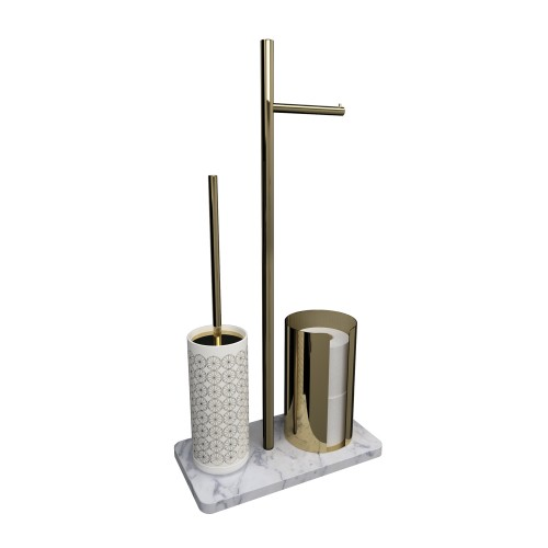 Ёршик для унитаза с держателем для туалетной бумаги Pomd'or Equilibrium  | 7719040