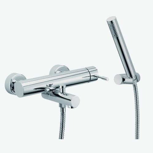 Смеситель для ванны наружного монтажа с душевым комплектом Fima Spillo F3224