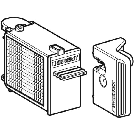 Выдвижной блок с фильтром для модуля GeberitDuoFresh