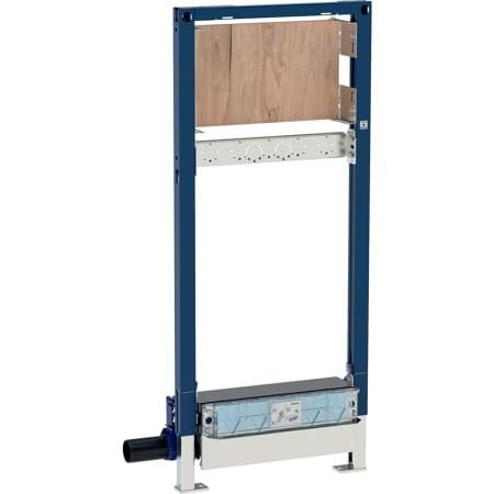 Инсталляция Geberit Duofix для душевых систем, 130 см, с водоотводом в стене, настенным смесителем для скрытого монтажа, высота стяжки для напольного стока 90–200мм