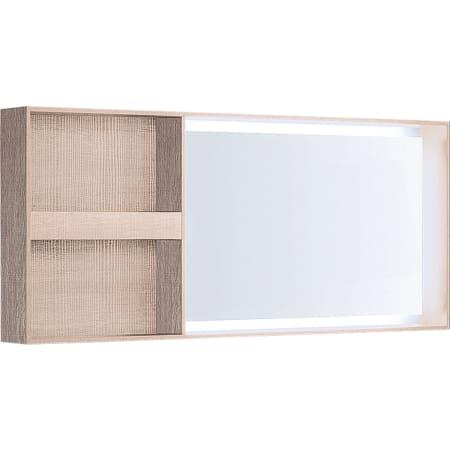 Зеркало с подсветкой Geberit Citterio, боковая полка