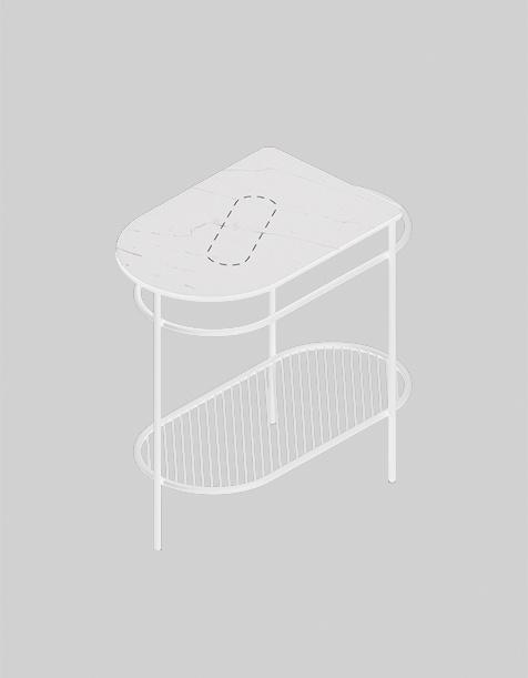 Консоль для раковины The.Artceram ACA065 FLAIR