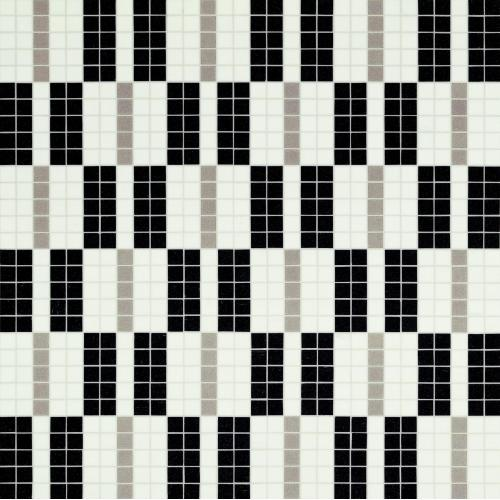 Мозаика Bisazza Alternance Noir  Blanc