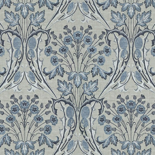 Ткань Jim Dickens Bouquet Porcelaine Blue