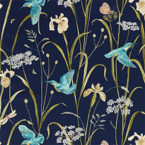 Ткань Sanderson Kingfisher  Iris | 226733