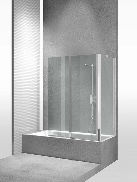 Перегородка душевая для ванны Vismaravetro Bathscreens NP+SI