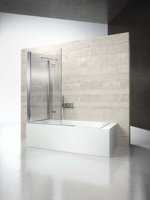 Перегородка душевая для ванны Vismaravetro Bathscreens SV+SI