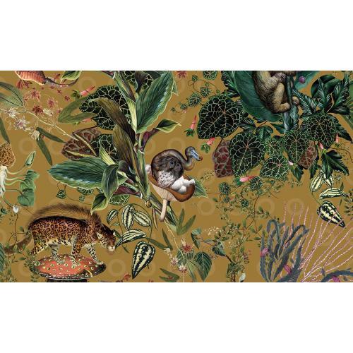 Обои Arte Moooi Wallcovering Extinct Animals Menagerie of Extinct Animals MO2074