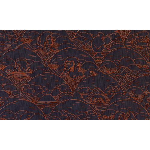 Обои Arte Moooi Wallcovering Tokyo Blue Indigo Macaque MO3000