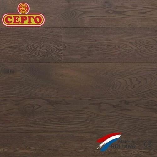 Трехслойный дубовый паркет Q2 By Parketfabriek Lieverdink Double Smoked Oiled Black